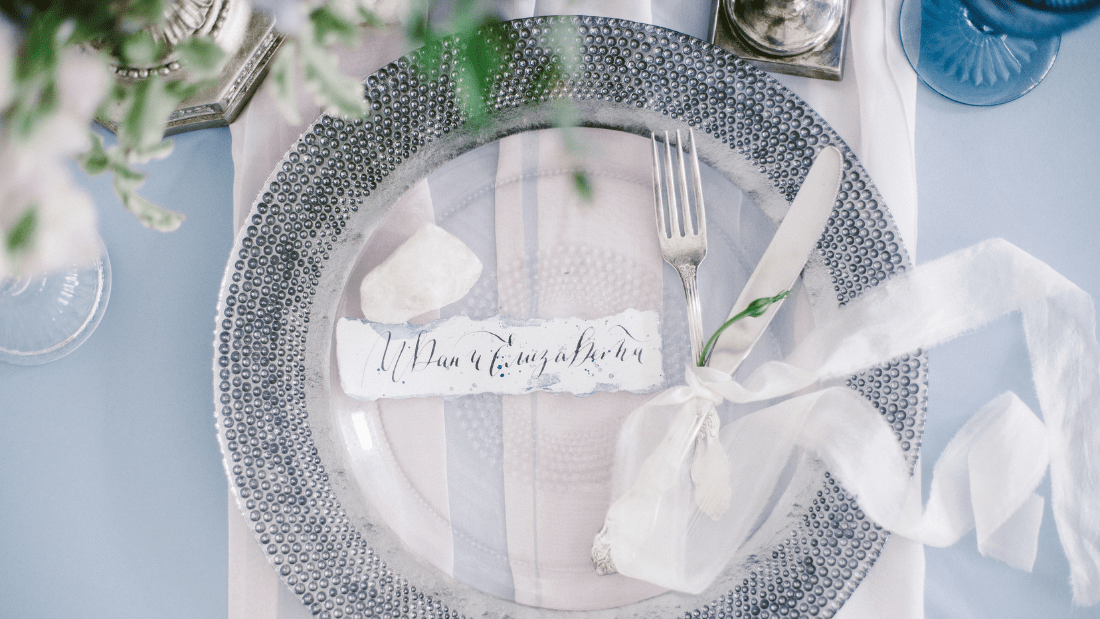 Place card on wedding table