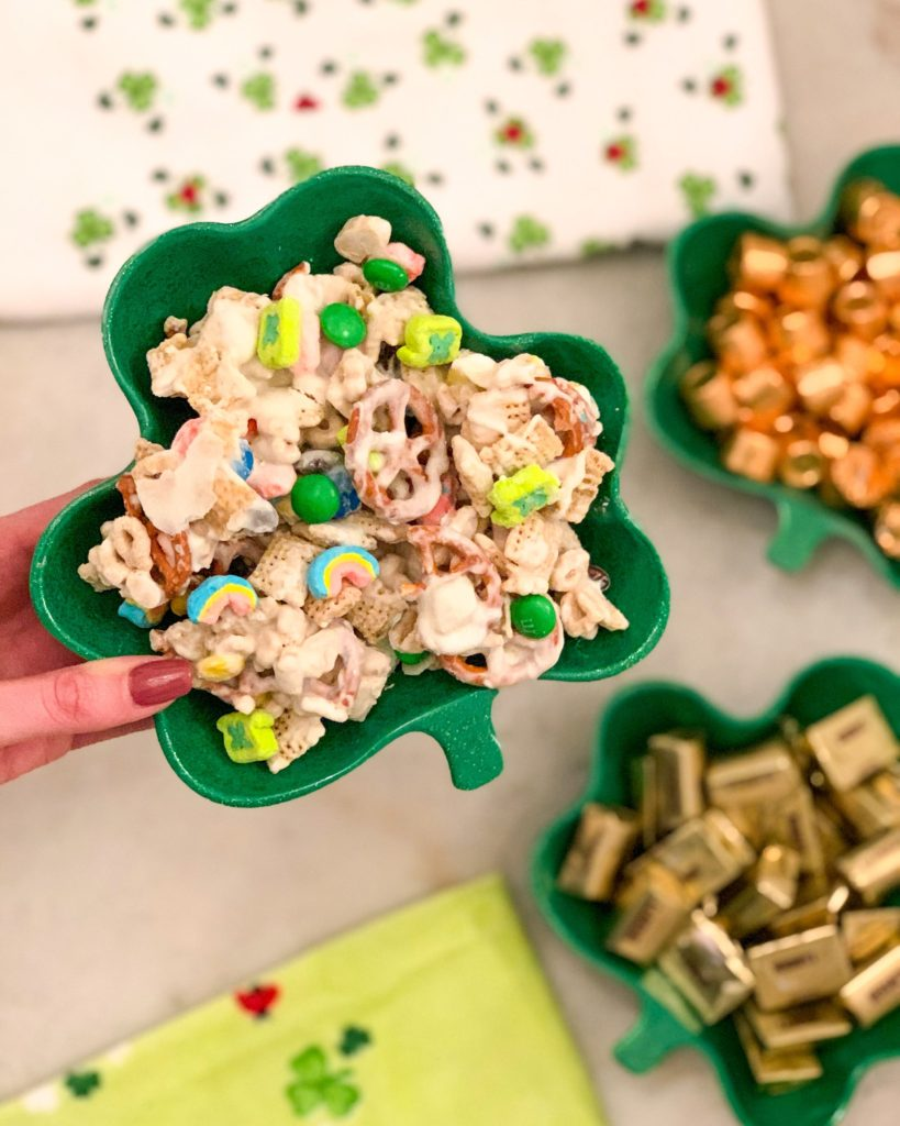 St. Patrick's Day treat: cereal snack mix with Lucky Charms