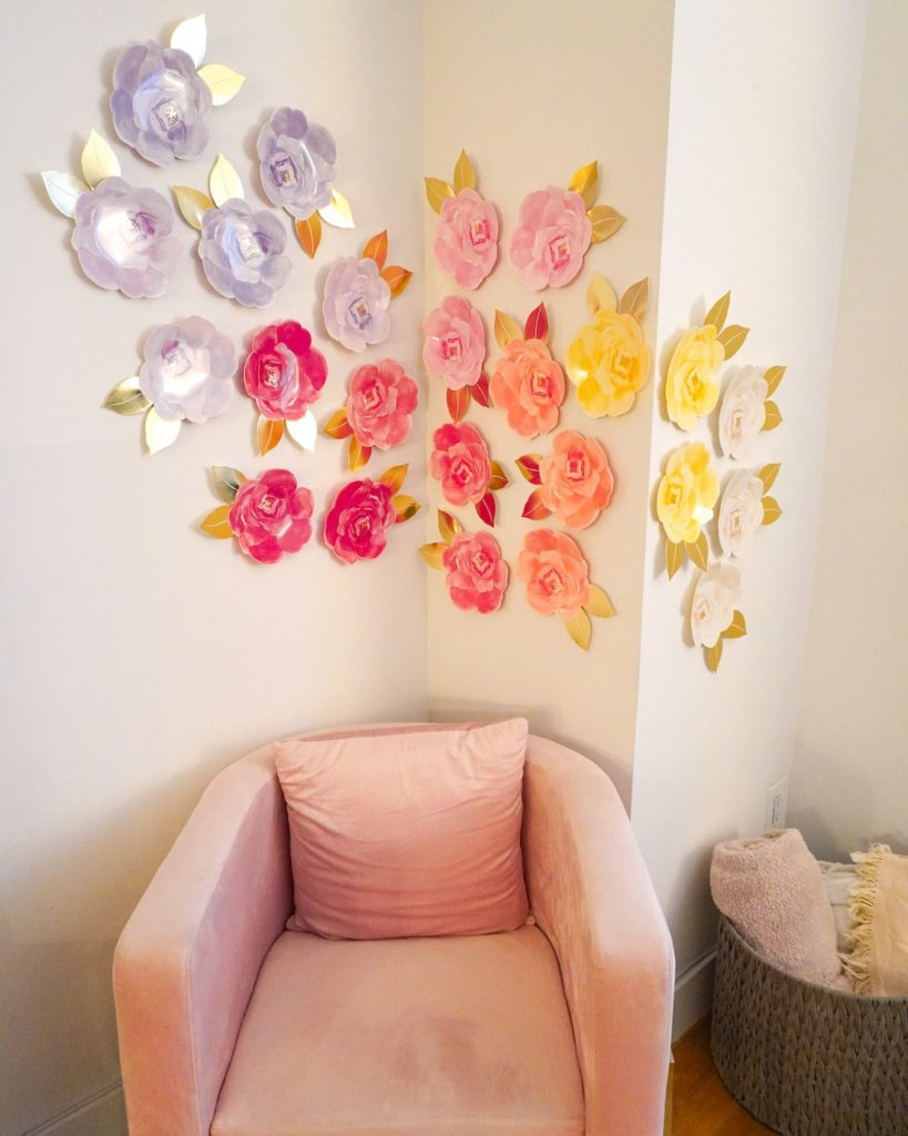DIY Party Backdrop- Ombre Flower Plates