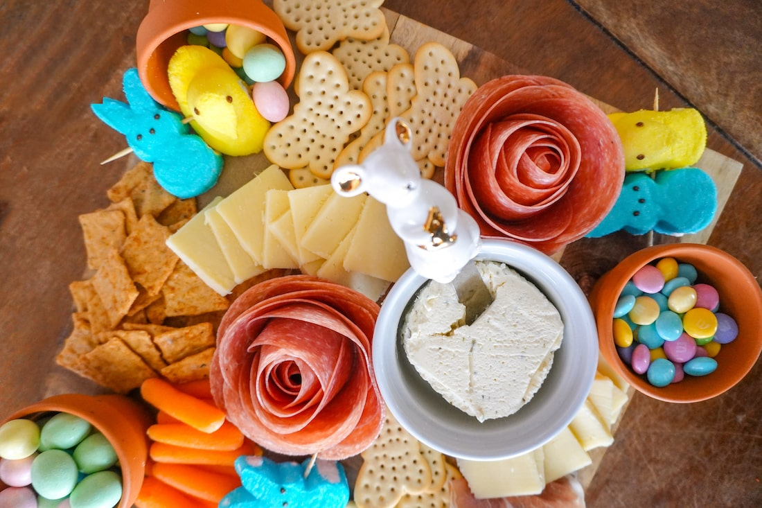 Easter charcuterie board for spring