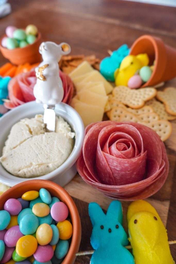 Salami Rose for Easter Charcuterie Board